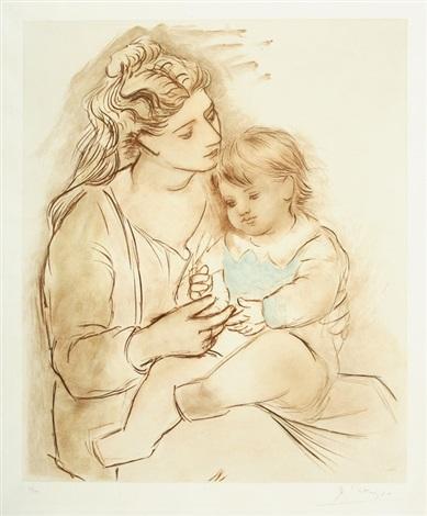 Maternité au rideau rouge par Pablo Picasso sur artnet