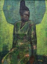 lady with suku by kolade oshinowo