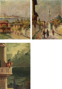 istanbul (+ 2 others; smllr; set of 3) by halid naci