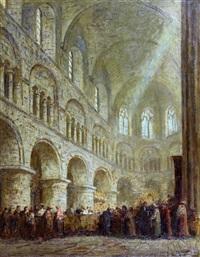 interieur van de matthew kerk in london by jacobus cornelis wyand cossaar
