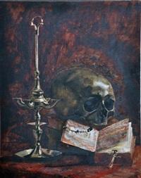 vanité au chandelier et au missel by léon joseph florentin bonnat