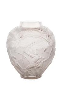 archers cased opalescent glass vase by rené lalique