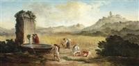 l'été : la moisson dans la campagne romaine by hubert robert