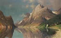 a mountain lake by fritz chwala