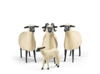 bélier, deux brebis et agneau (4 works) by françois-xavier lalanne