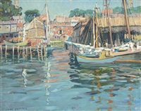 gloucester harbor by jane peterson