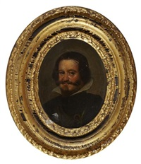 head and shoulder portrait of don gaspar de guzmán (1587-1645), count-duke of olivar by diego rodríguez de silva y velásquez