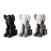 companion (passing through) (3 works) by kaws