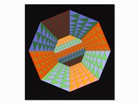 color serigraph by victor vasarely