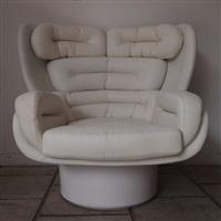 fauteuil, modele elda by joe colombo