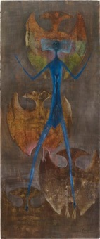 bat-men (how true my love) by leonora carrington