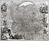 tabula generalis sabaudiae (from theatrum statuum regiae celestudinis sabaudiae ducis) by johannes de broen