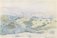 hillside, cagnes, france by frederick carl frieseke