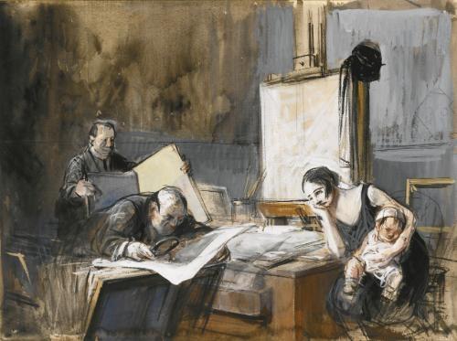 the print dealer by jean louis forain