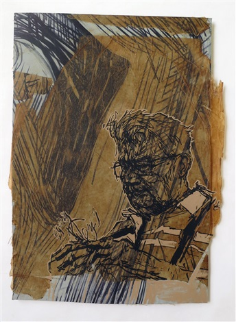 #36 alden (paper on lino) by swoon