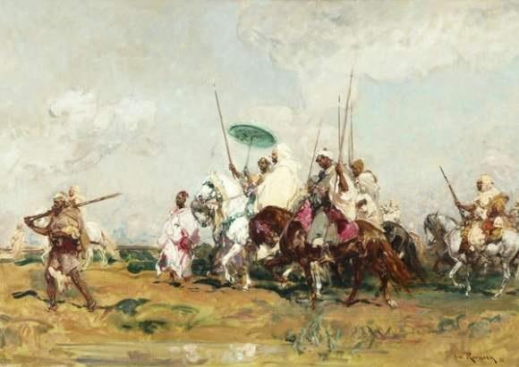 le sultan du maroc et son escorte by henri emilien rousseau