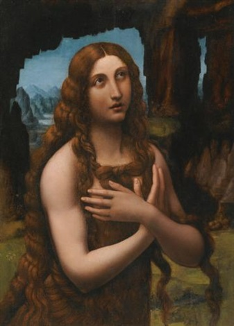 the penitent magdalene by leonardo da vinci
