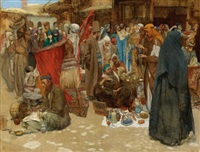 a busy bazaar by albert janesch