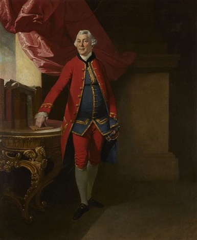 full length portrait of sir william young, governor of st. domenica by johann joseph zoffany