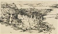new york city 1955 by leroy neiman