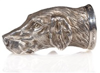 foxhound stirrup cup by raoul millais