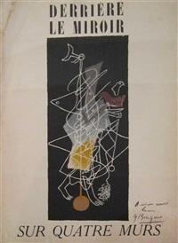 sur quatre murs, 1951 by georges braque