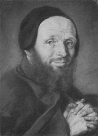 portrait of a monk by joseph vivien