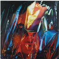 gift wrapped doll #18 by james rosenquist