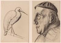 personen- und tierdarstellungen (17 studies) by matthias koeppel