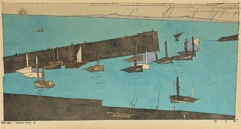 sardinen-fischer ii by lyonel feininger