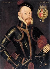 portrait of sir thomas radcliffe, earl of sussex (1526-1583) by steven van der meulen