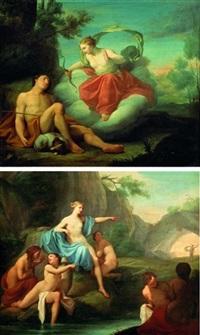 diane et endymion (+ diane et actéon; pair) by louis galloche