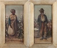 dans les champs de coton (pair) by william aiken walker
