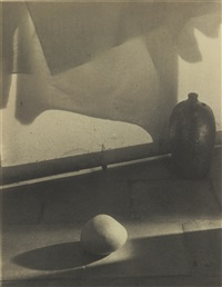 stone and ceramic-still life in the style of navrátil by josef sudek