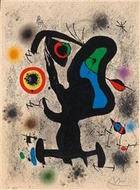 litografia para la asociación internacional de artes plásticas by joan miró