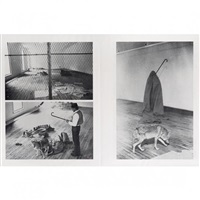 performance avec un coyote (set of 4) by joseph beuys