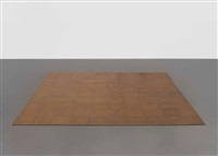 100 copper square (in 100 parts) by carl andre