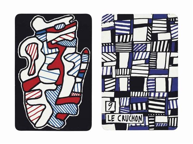 banque de lhourloupe cartes à jouer et à tirer album w52 works by jean dubuffet