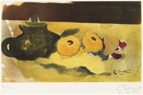 la nappe jaune by georges braque