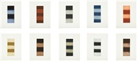ten towers (set of 10) by sean scully