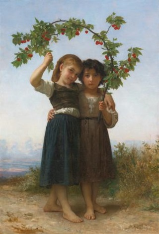 la branche de cerisier the cherry branch by william adolphe bouguereau