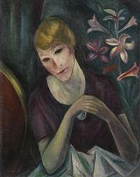 porträt einer dame by heinrich heidner