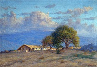 paisaje con rancho by ceferino carnacini