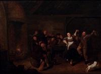 intérieur de taverne avec un couple dansant by egbert van heemskerck the younger