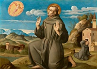 der heilige franziskus empfängt die stigmata - san francesco che riceve le stigmate by girolamo da santacroce
