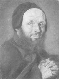 portrait of a monk by joseph vivien