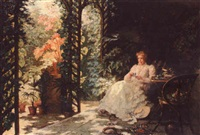 tea in the conservatory by pieter willem sebes