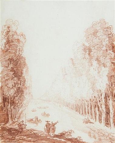 vue présumée du canal du parc de sceaux by hubert robert