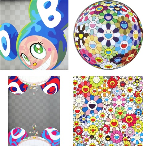 melting dob a flower ball 3 d kindergarten flowers have bloomed such cute flowers set of 4 by takashi murakami
