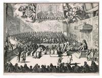 het hoog en lager huys van engeland (2 works) by romeyn de hooghe
